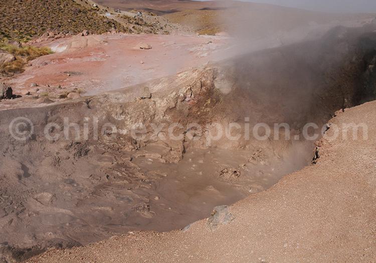 Fumerolles des geysers cachés, San Pedro de Atacama