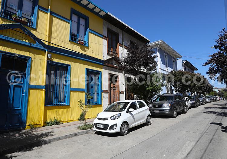Cerro Alegre, Valparaiso, centre du Chili