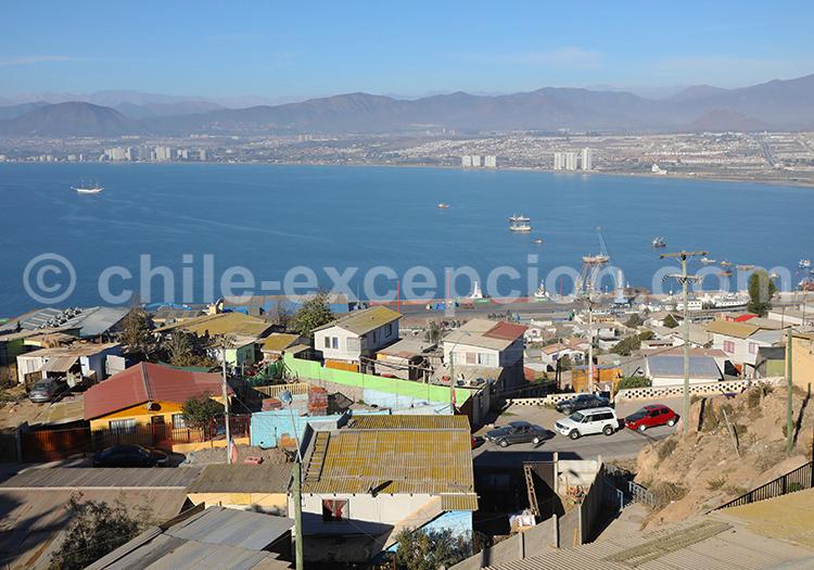 Rues de quartier, Coquimbo, Chile
