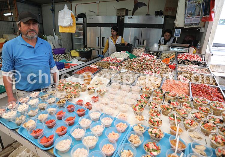 Stand de fruits de mer, Coquimbo