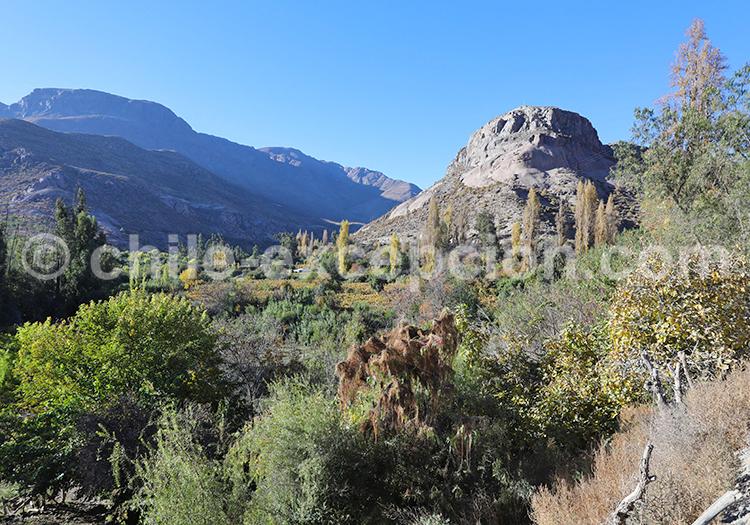 Paysages de la vallée Río Hurtado, Chili