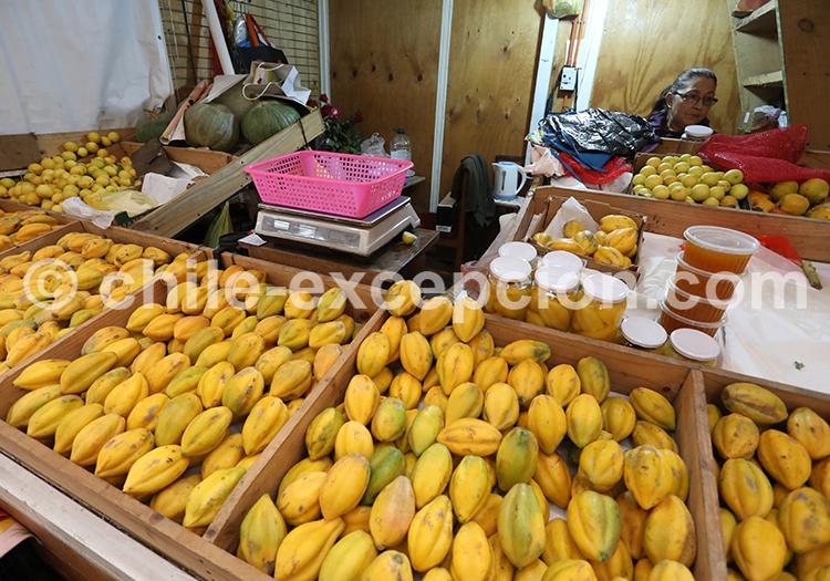 Stand de fruits, Feria Modelo de Ovalle, Chili