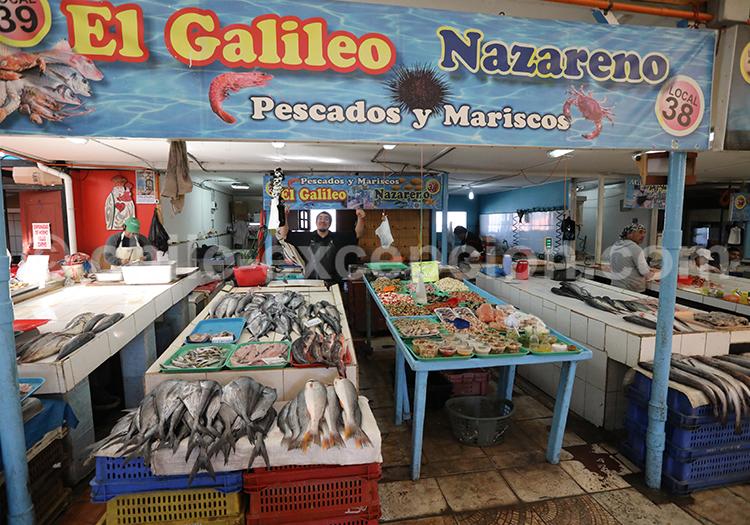 Marché aux poissons, Chili