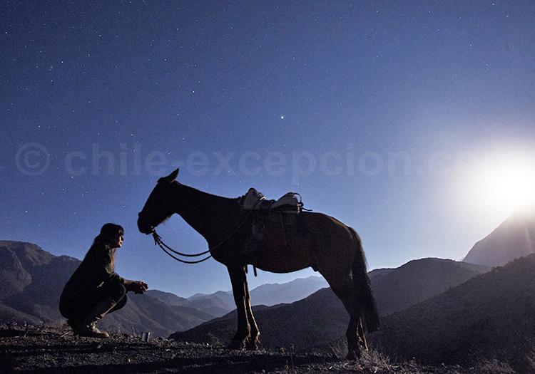 Excursion à cheval, hacienda los andes, chili