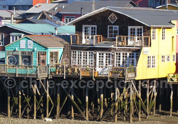Les maisons sur pilotis typiques de Castro, Chiloé