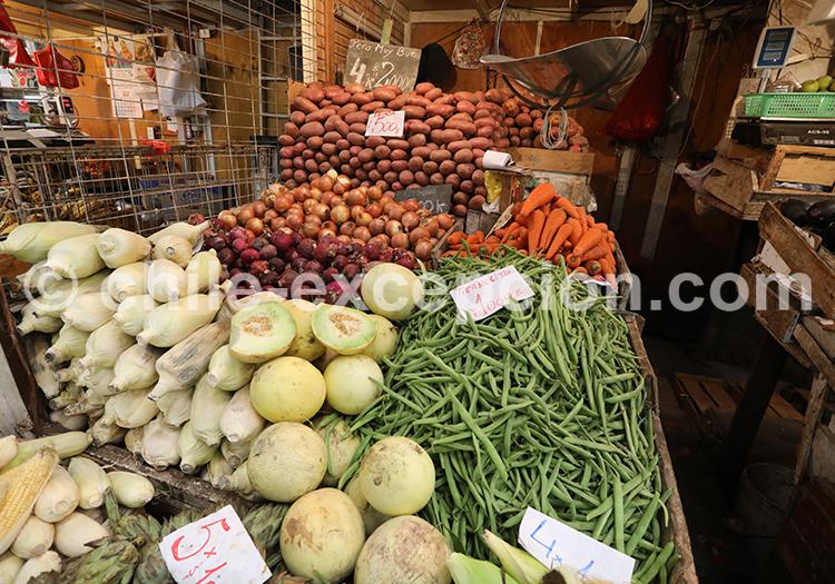 Marché de fruits et légumes, Chili