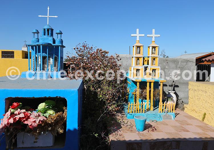 Cimetière de Cerrillos de Tamaya, alentours d'Ovalle