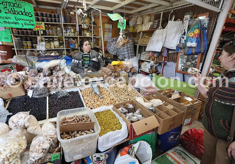 Stand d'épices, Feria Modelo de Ovalle, Chili