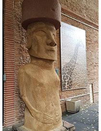 Moaï au musée