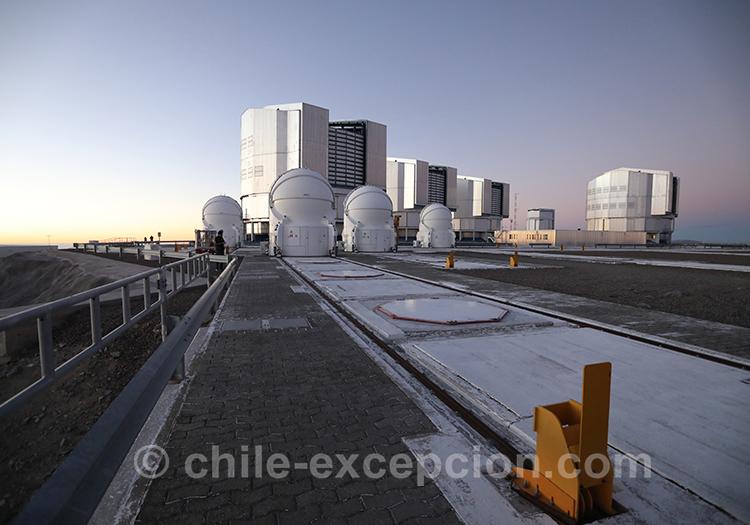 Observation des étoiles et constellations, Very Larg Telescope, Nord du Chili