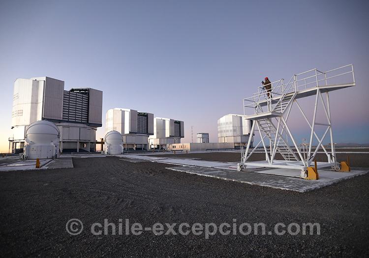Excursion nocturne, observation du système solaire, Chili