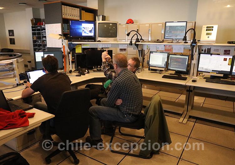 Bureau des scientifiques, Very Large Telescope, Cerro Paranal, Chili