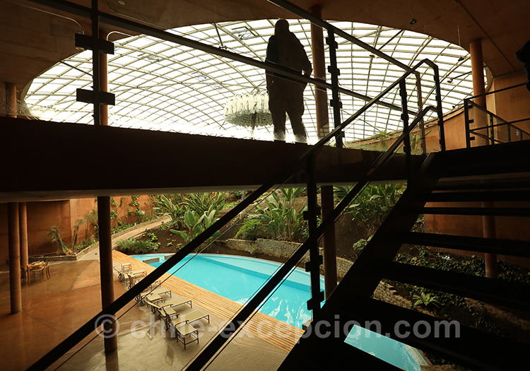 Hall de détente pour les résidents, observatoire du Paranal, Chili