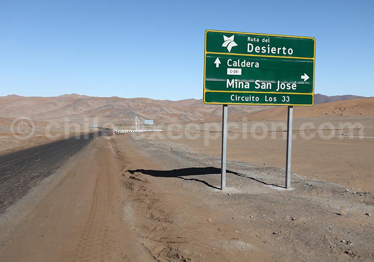 Copiapó, Route du désert