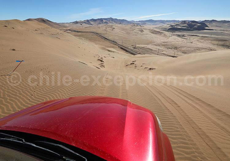 Excursion, dunes de Copiapo, Chili