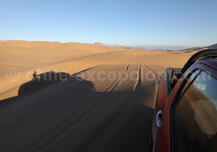 Passage dans les dunes de Copiapo