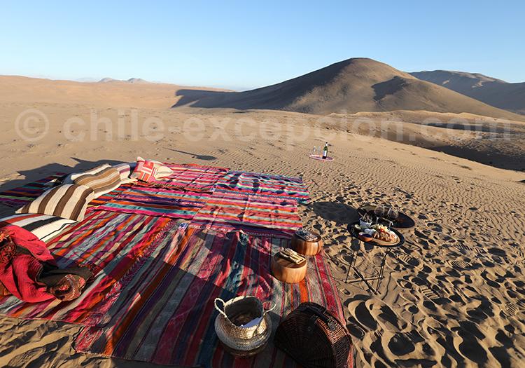 Visite guidée, dunes de Copiapo