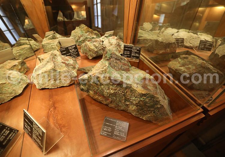 Musée des mines, exposition de roches