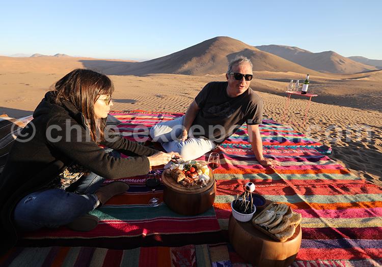Excursion dans le désert, dunes géantes de Copiapo