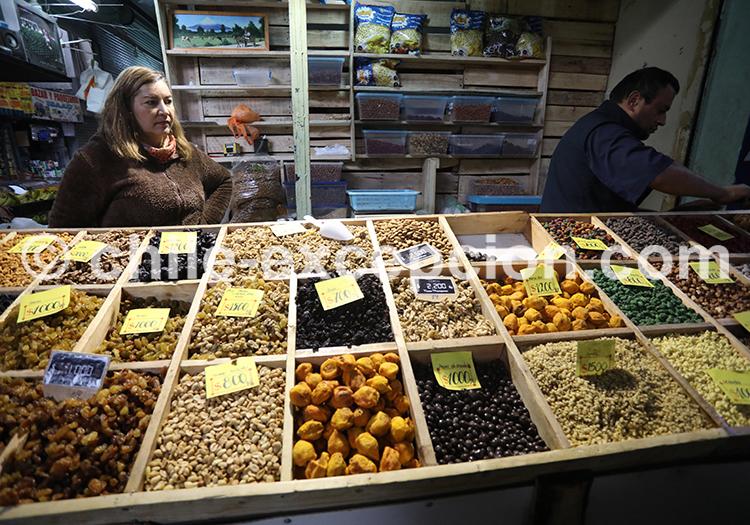 Fruits secs, la Vega Central, Santiago de Chile