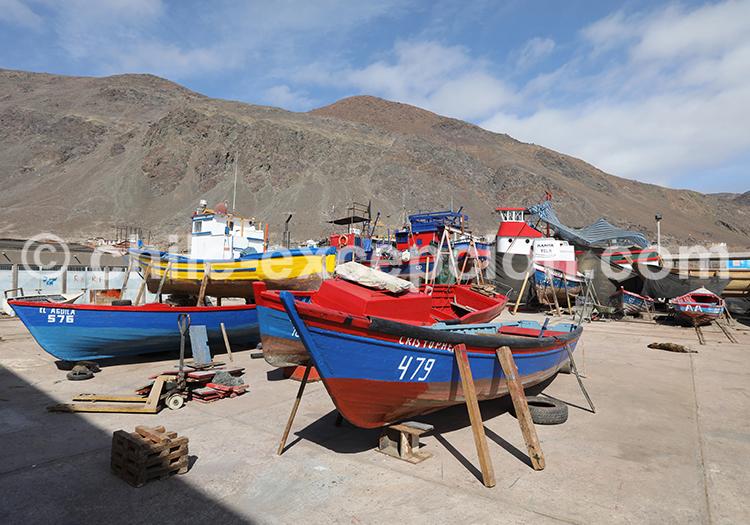 Port du village Taltal, Chili