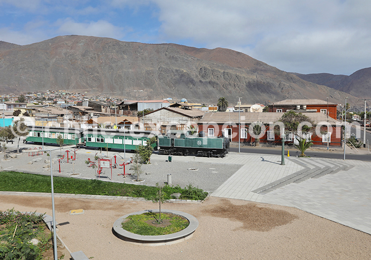 Locomotive Kitson Meyer, village de Taltal, Chili