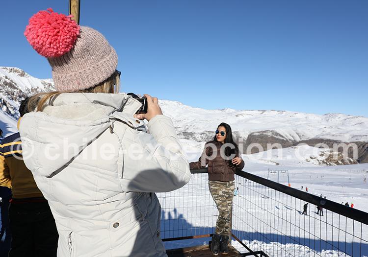 Journée de ski à Farellones, Chili