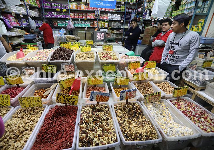 Stand du marché La Vega Central, Santiago de Chile