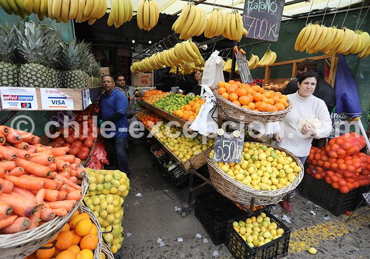 Les fruits et légumes du Mercado la Vega Central, Santiago de Chile