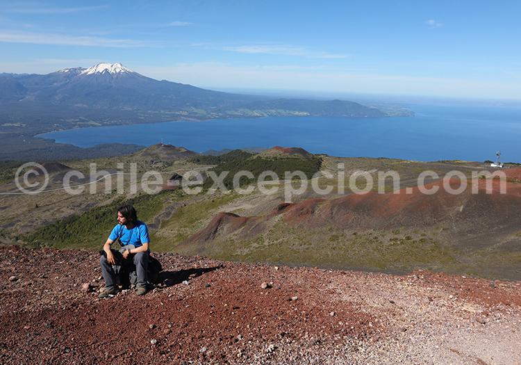 Balade cratère Rouge, volcan Osorno