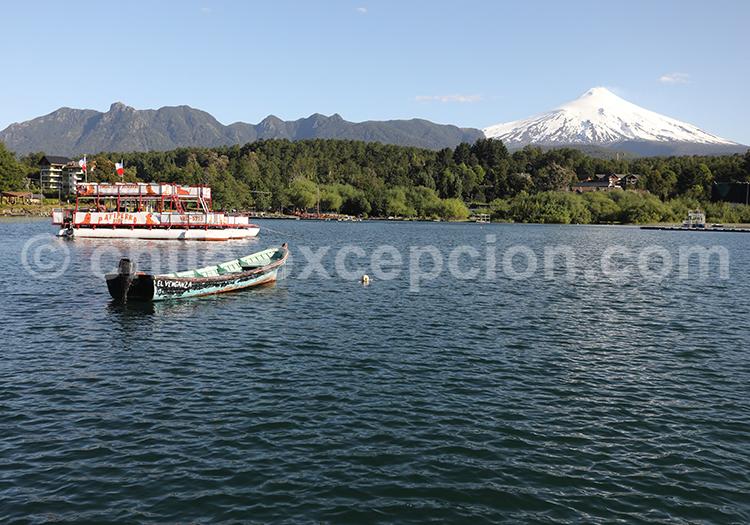 Lac Villarrica, région des lacs, Chili