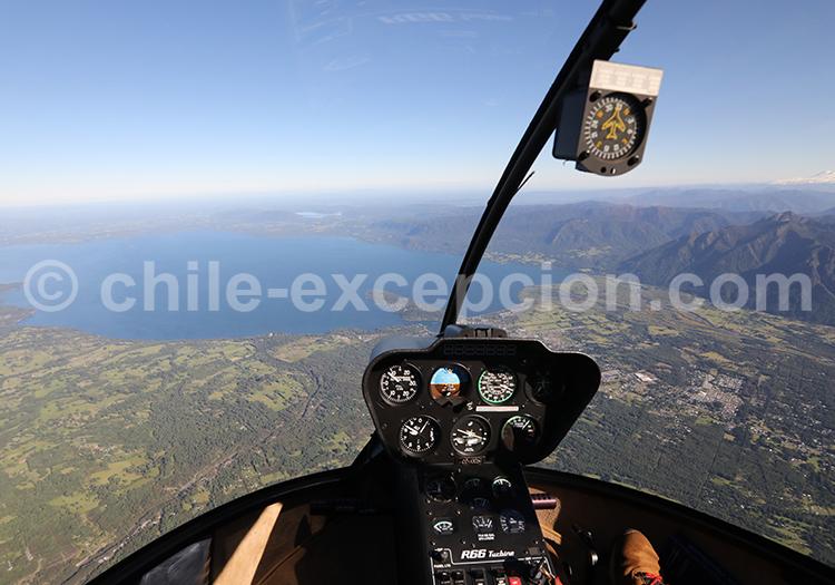 Excursion en hélicoptère Lac Villarrica, Chili