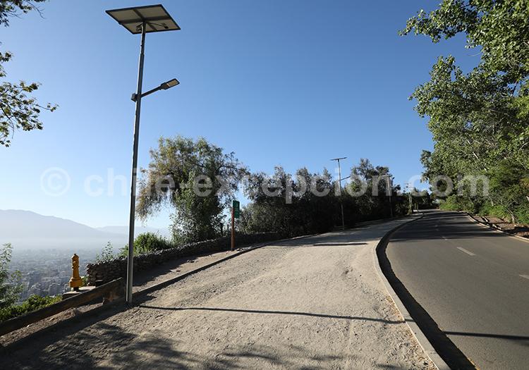 Caminata, Cerro San Cristóbal