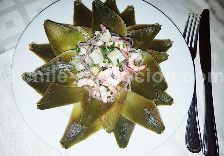 Ceviche de alcachofa