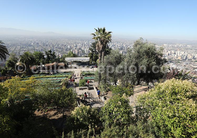 Cerro San Cristóbal, parc métropolitain, Chili