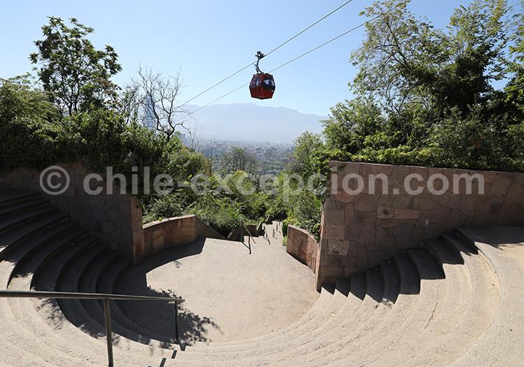 Prendre le telephérique, Cerro San Cristóbal