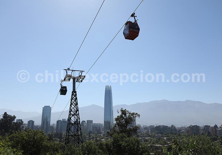 Excursion au Cerro San Cristóbal, Santiago du Chili