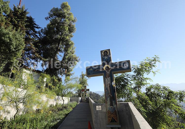 Balade au Cerro San Cristóbal, Santiago