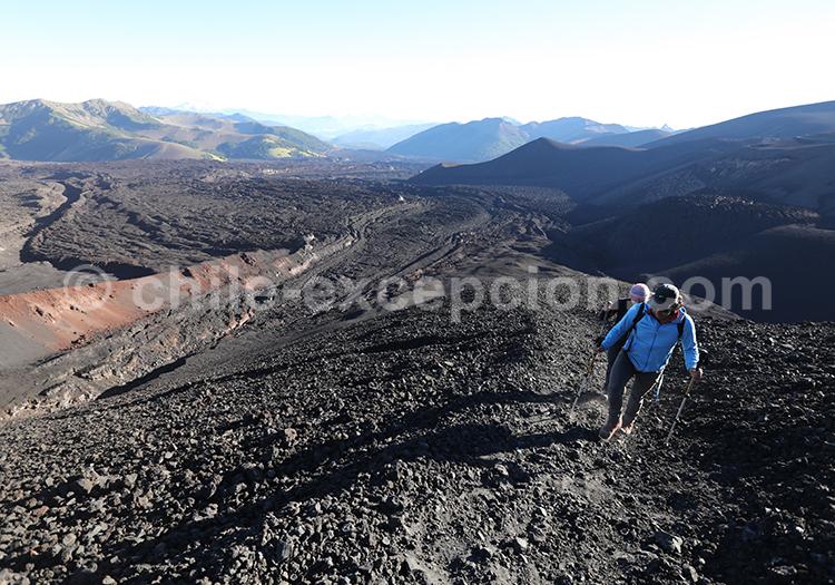 Trekking au cratère Navidad, Chil