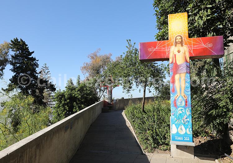 Les croix du Cerro San Cristóbal, Santiago