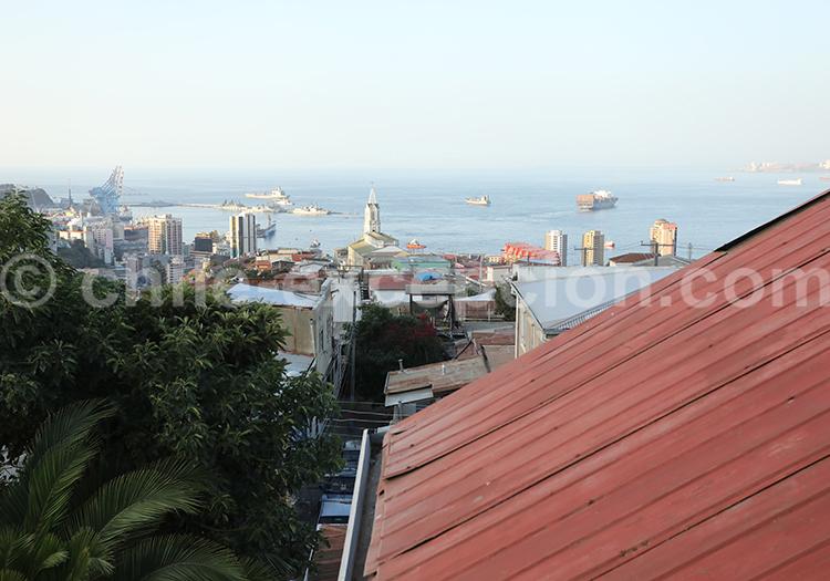Vue du port, Cerro Florida, Valparaiso