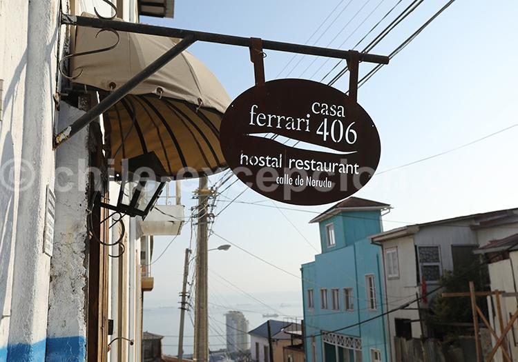 Restaurant , calle Neruda, Cerro Florida, Valparaiso