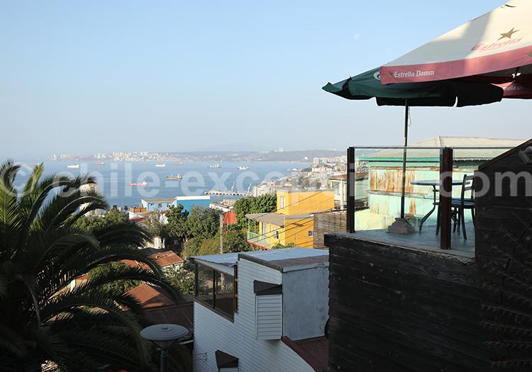 Restaurants avec vue du port, Cerro Florida, Valparaiso