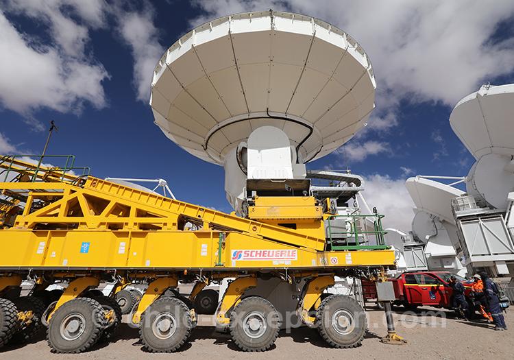 Observatoire Alma, désert arride du Chili