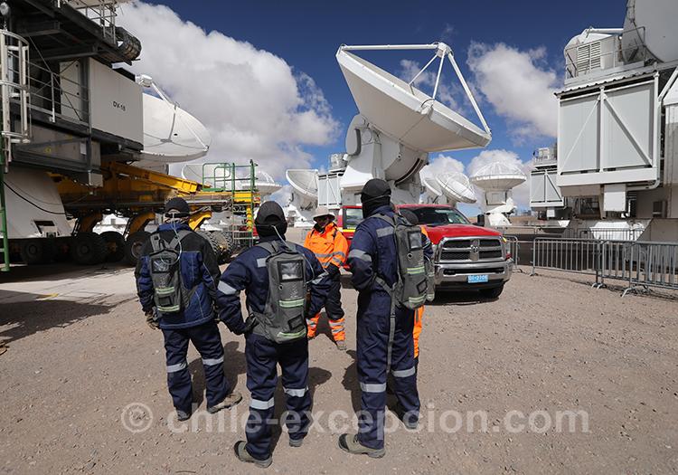 Visite de l'observatoire Alma, désert d'Atacama
