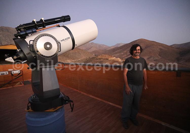 Excursion nocturne, Observatoire el Pangue, Chili