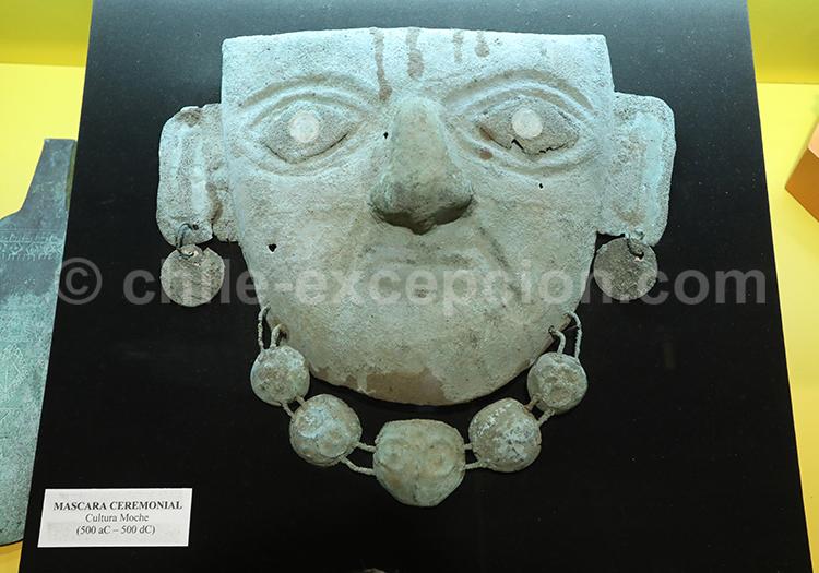 Masque de cérémonie pré-hispanique,Musée Colchagua