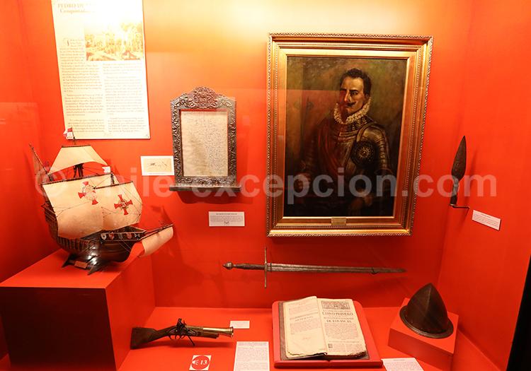 Pedro de Valdivia, Musée Colchagua