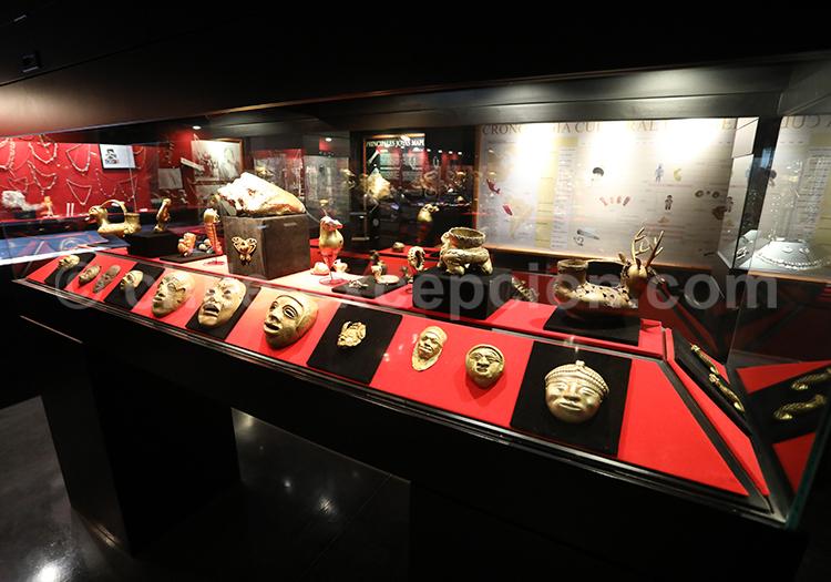 Panoplie d'objets precolombiens, Musée Colchagua