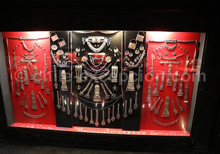 Bijoux traditionnels mapuches, Musée Colchagua